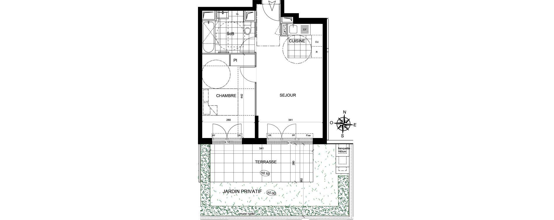 Appartement T2 de 40,17 m2 à Livry-Gargan Centre
