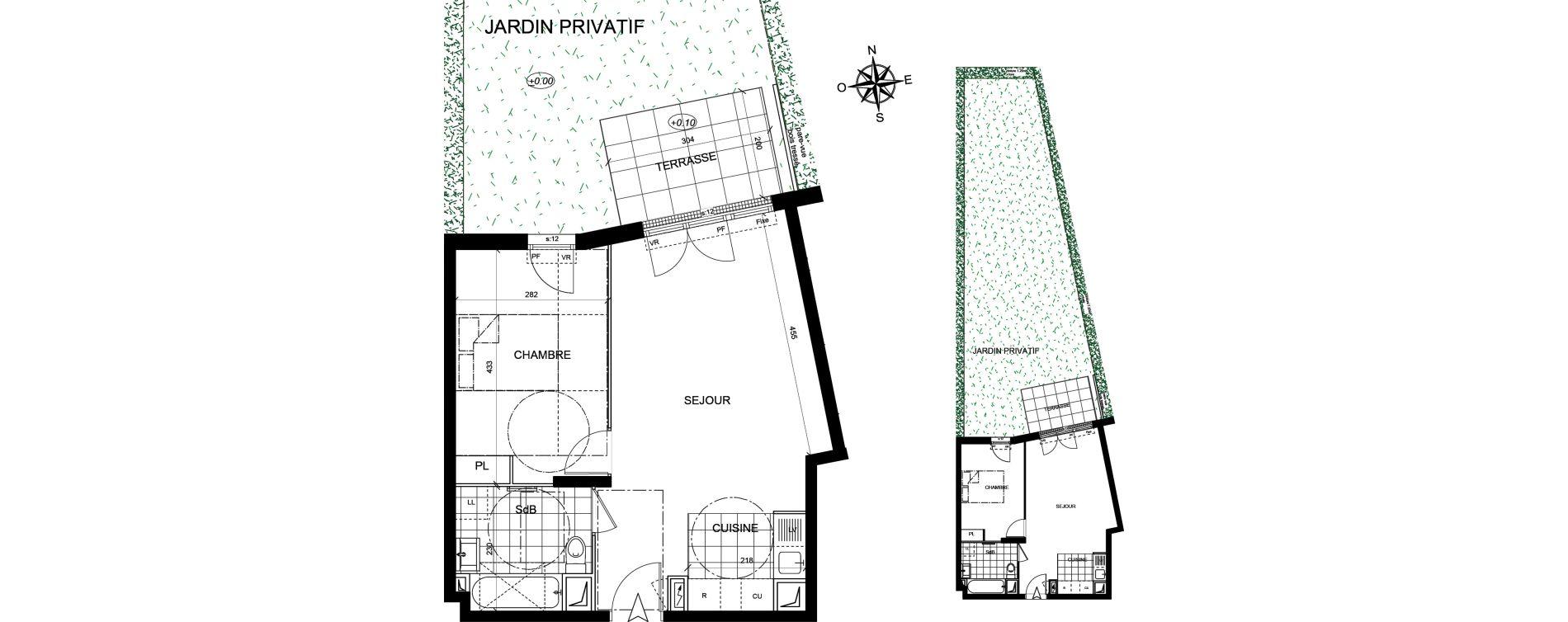 Appartement T2 de 43,14 m2 à Livry-Gargan Centre