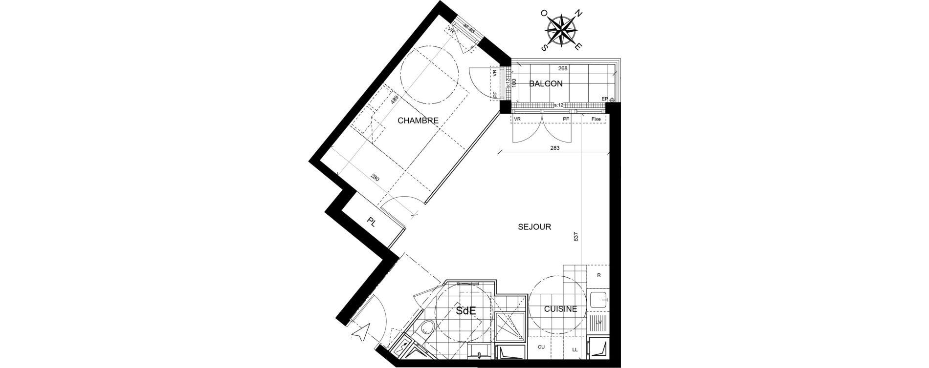 Appartement T2 de 45,25 m2 à Livry-Gargan Centre