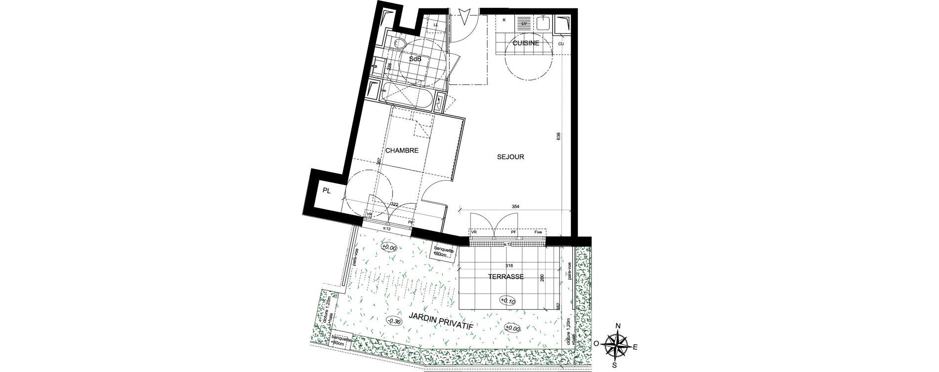 Appartement T2 de 44,52 m2 à Livry-Gargan Centre