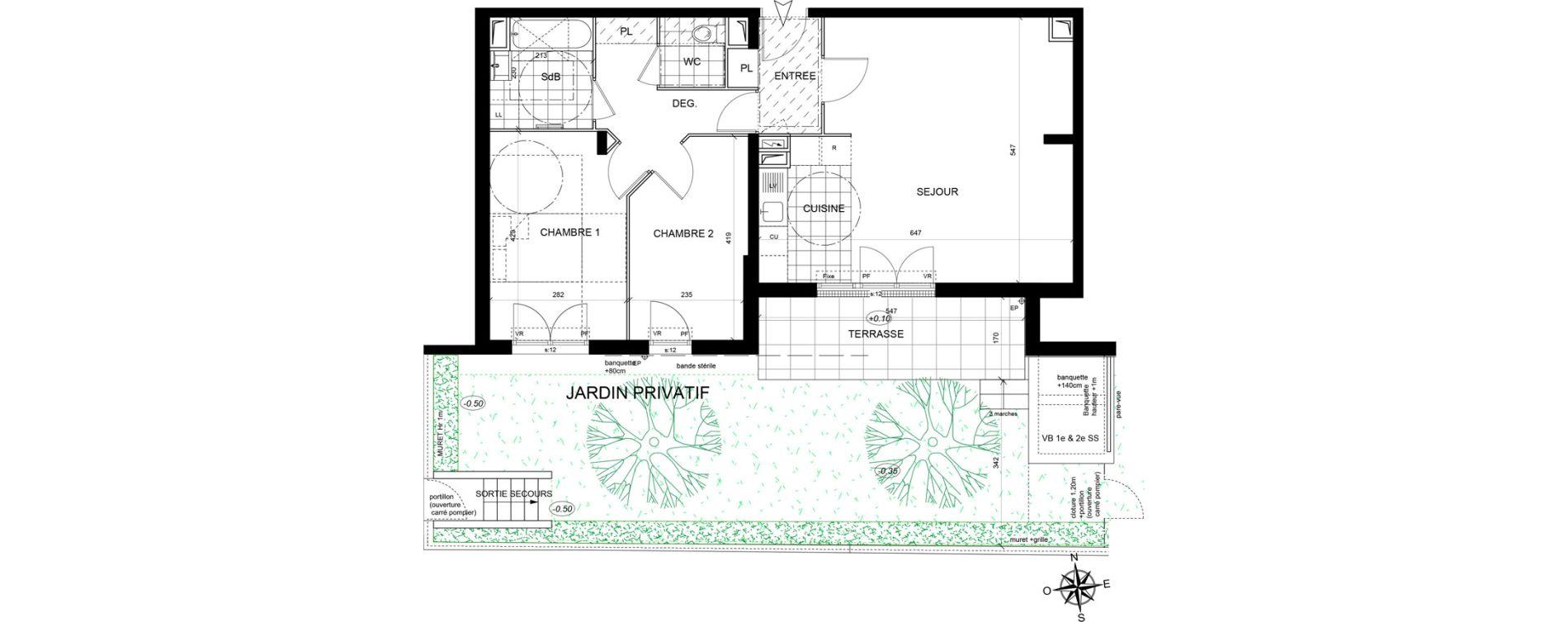 Appartement T3 de 68,34 m2 à Livry-Gargan Centre