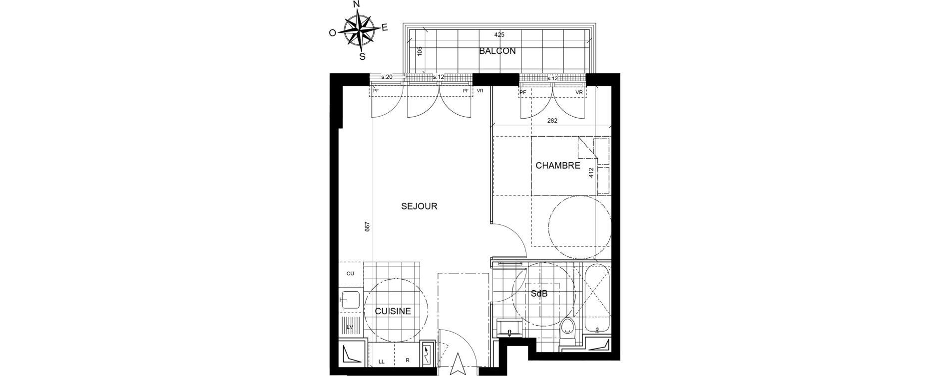 Appartement T2 de 40,14 m2 à Livry-Gargan Centre