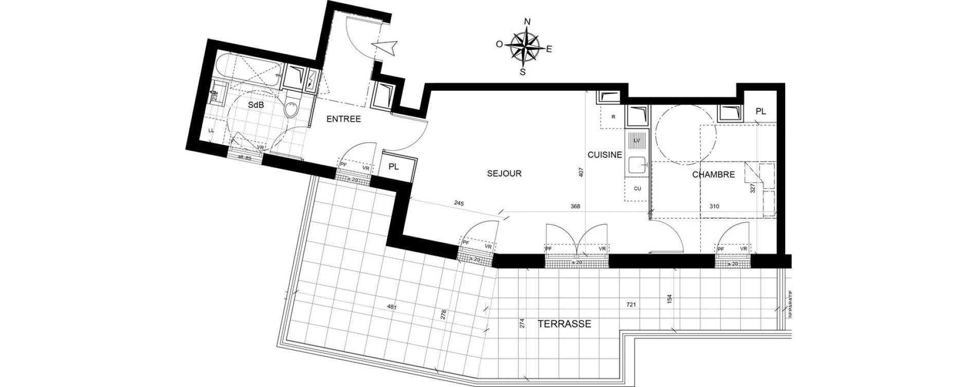 Appartement T2 de 46,44 m2 à Livry-Gargan Centre