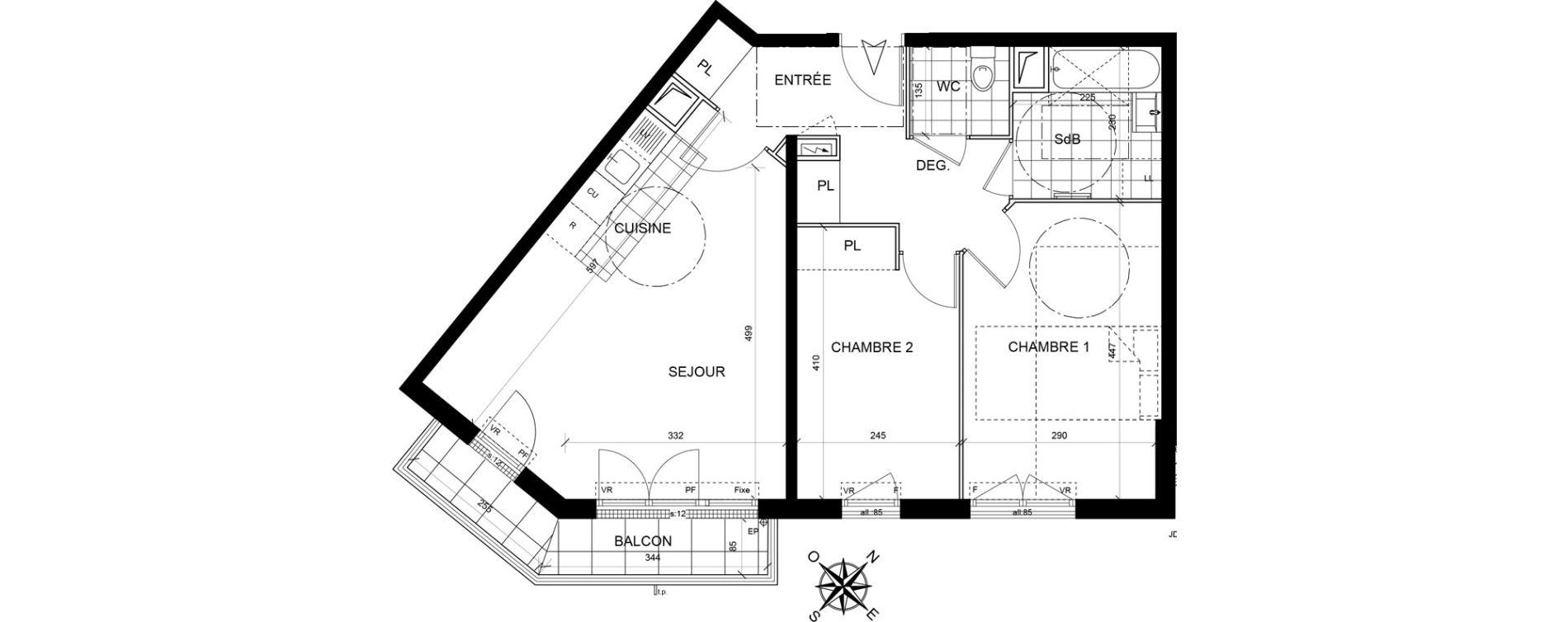 Appartement T3 de 60,55 m2 à Livry-Gargan Centre