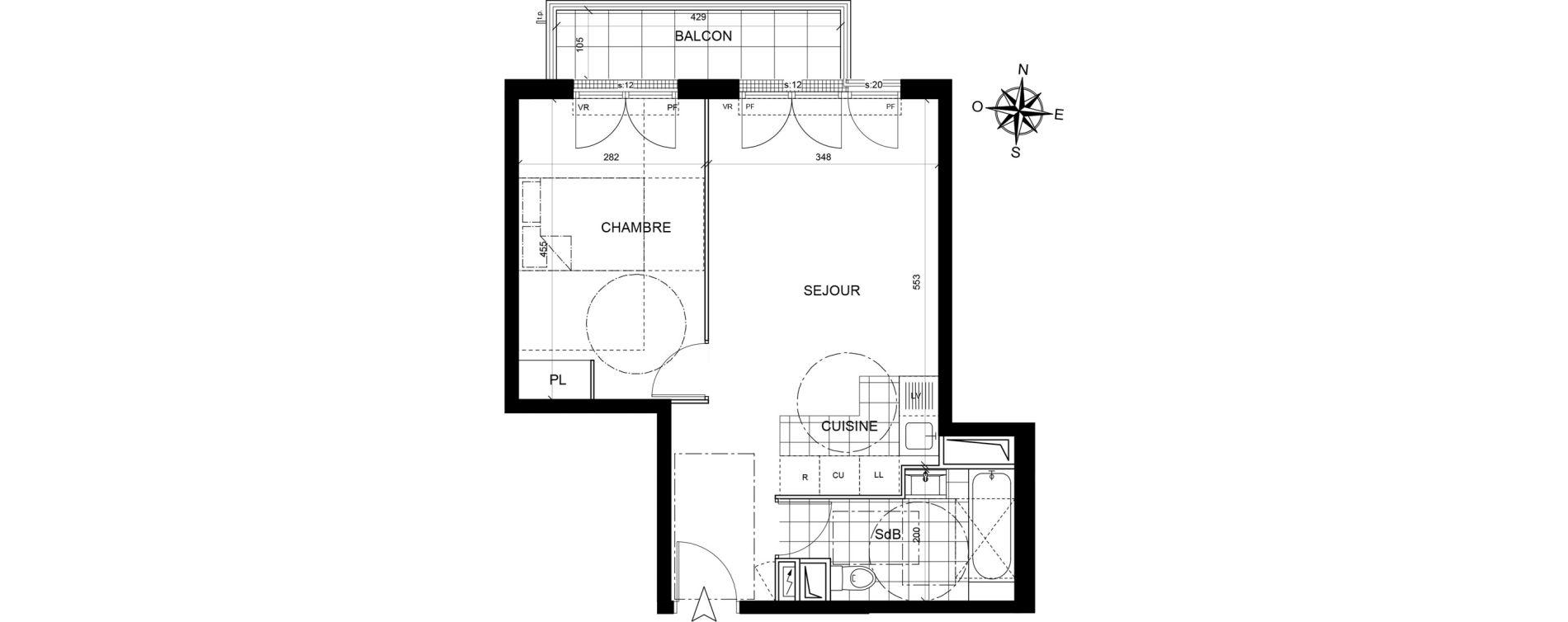Appartement T2 de 42,47 m2 à Livry-Gargan Centre