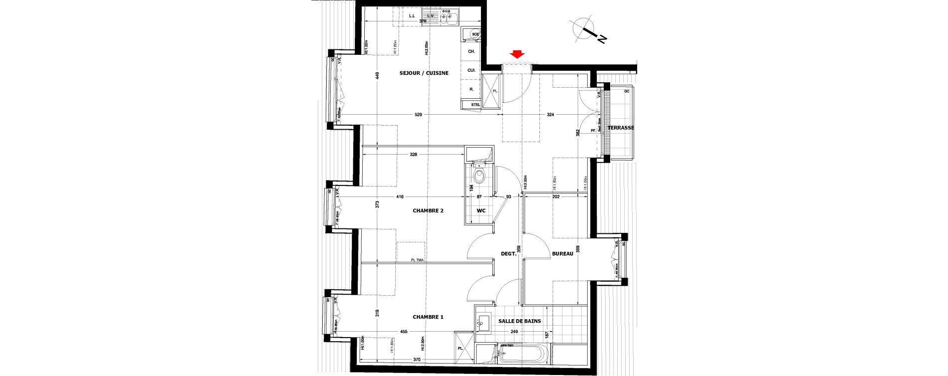 Appartement T3 bis de 66,58 m2 à Montfermeil Centre