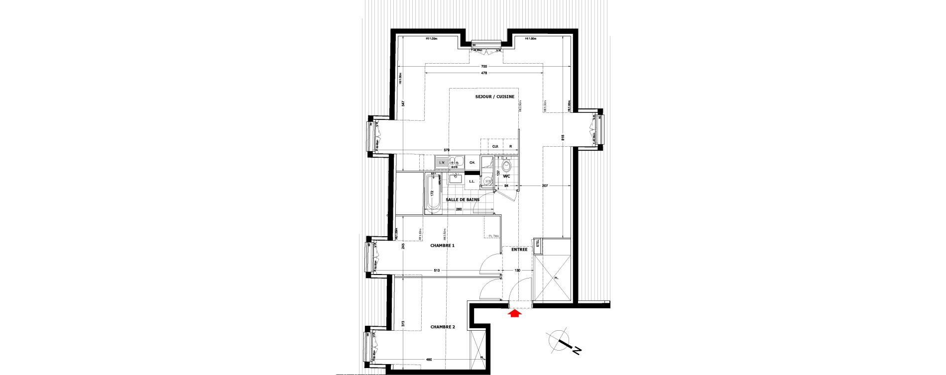 Appartement T3 de 62,70 m2 à Montfermeil Centre