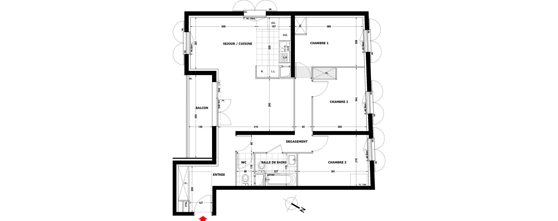 Appartement T4 de 78,18 m2 à Montfermeil Centre