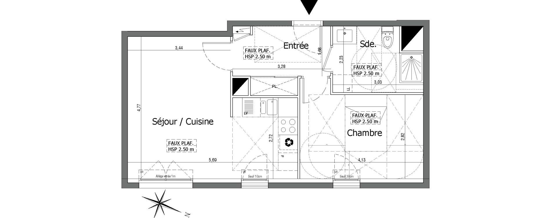 Plan T2 neuf à Neuilly-sur-Marne de