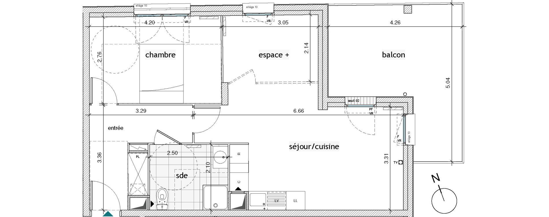 Plan T2 neuf à Pierrefitte-sur-Seine de