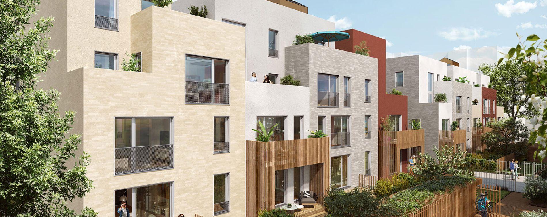 Romainville : programme immobilier neuve « Les Allées Douces » en Loi Pinel