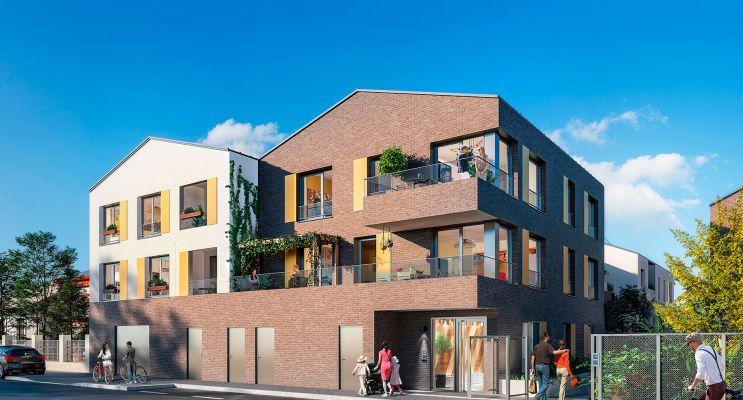 Romainville : programme immobilier neuf « Les Ormes - Les Sentes des Oseraies » en Loi Pinel