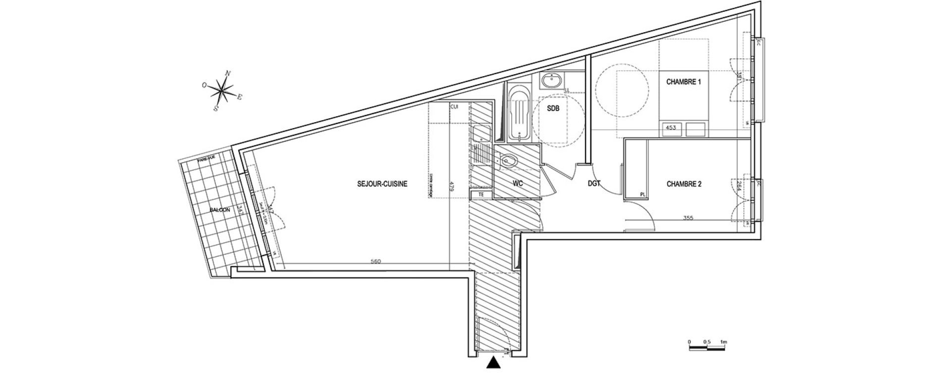 appartement neuf t3 rosny sous bois villa 125 n 374 de. Black Bedroom Furniture Sets. Home Design Ideas