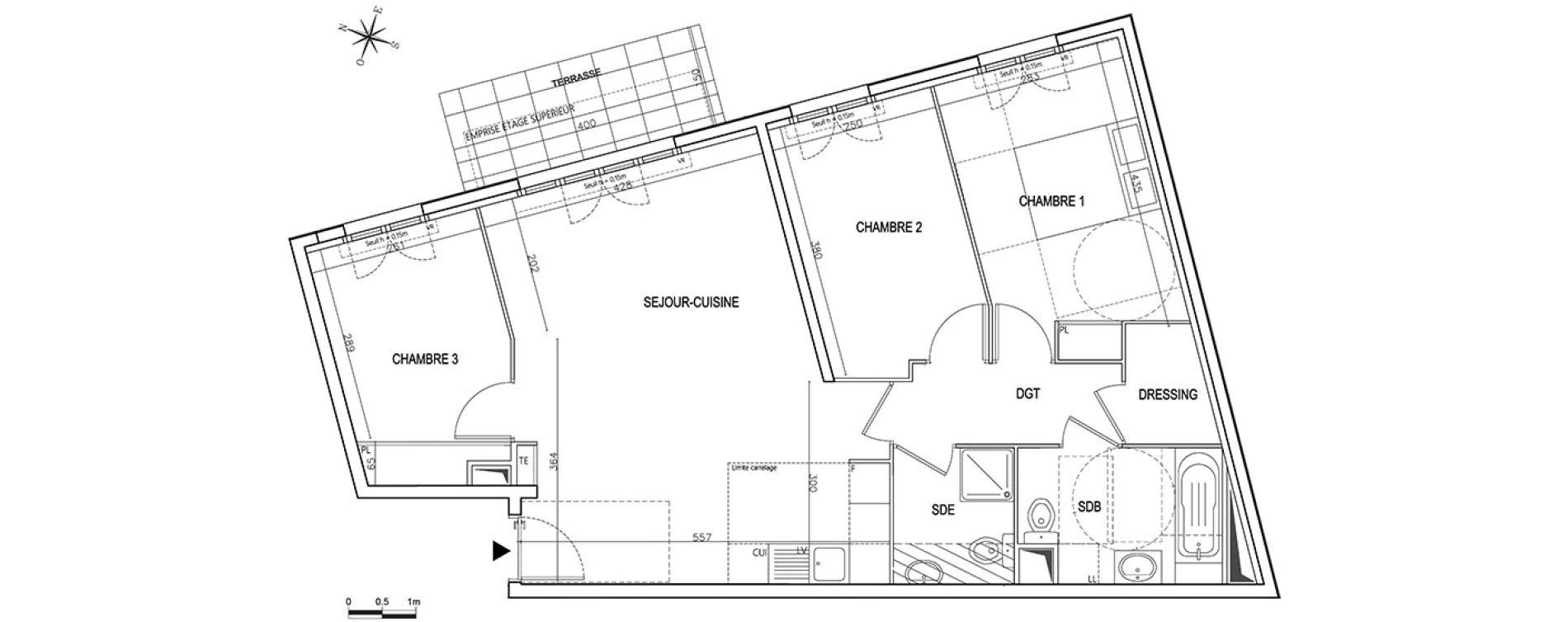 appartement neuf t4 rosny sous bois villa 125 n 073 de. Black Bedroom Furniture Sets. Home Design Ideas