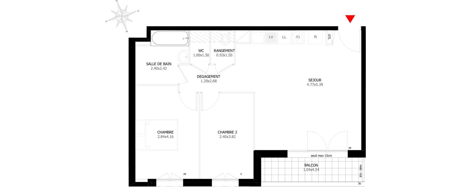 Appartement T3 de 59,08 m2 à Sevran Centre