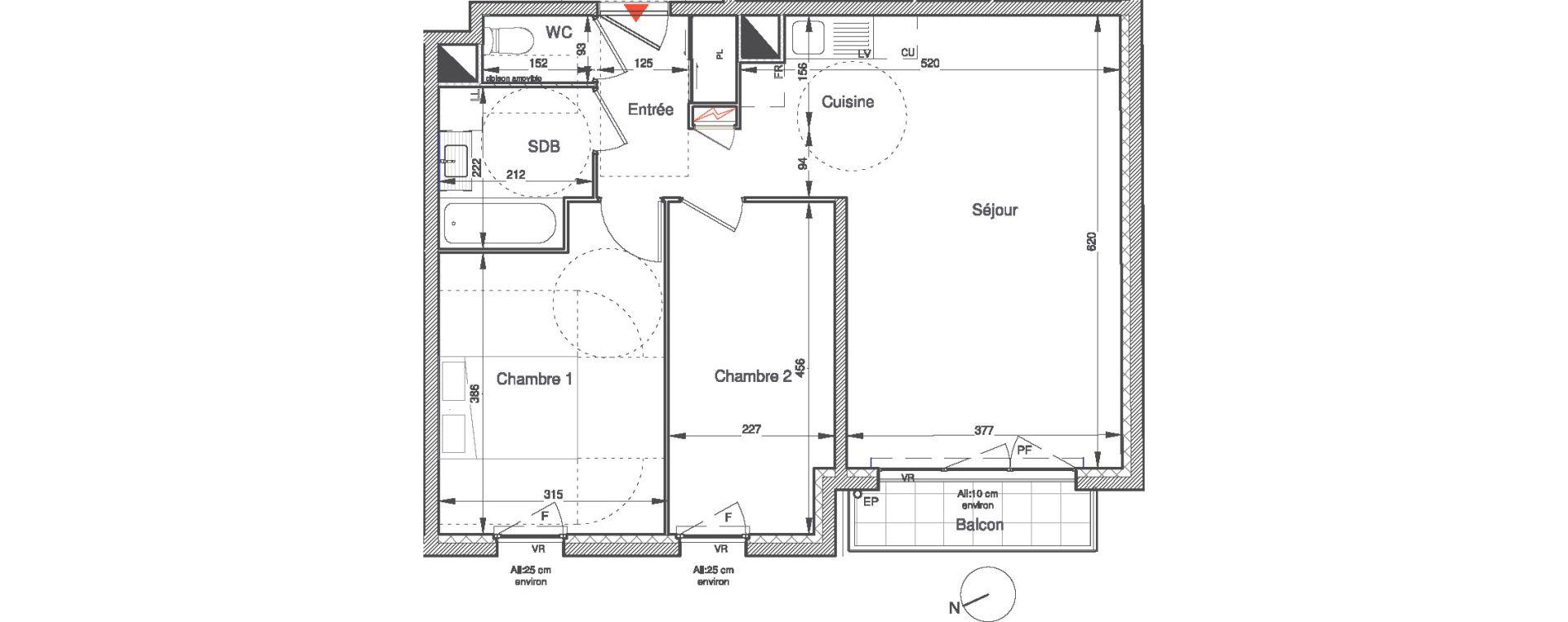Appartement T3 de 59,99 m2 à Villepinte Vert galant