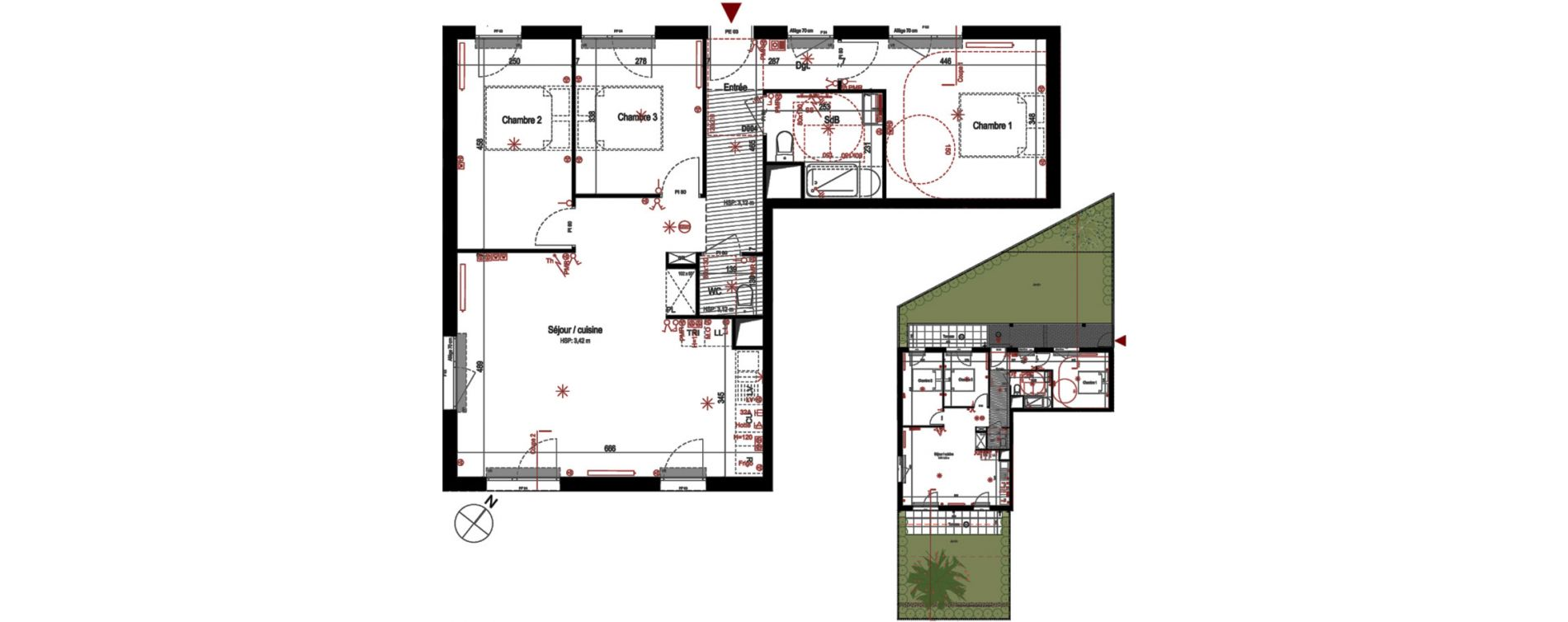 Appartement T4 de 81,87 m2 à Villepinte La pépinière