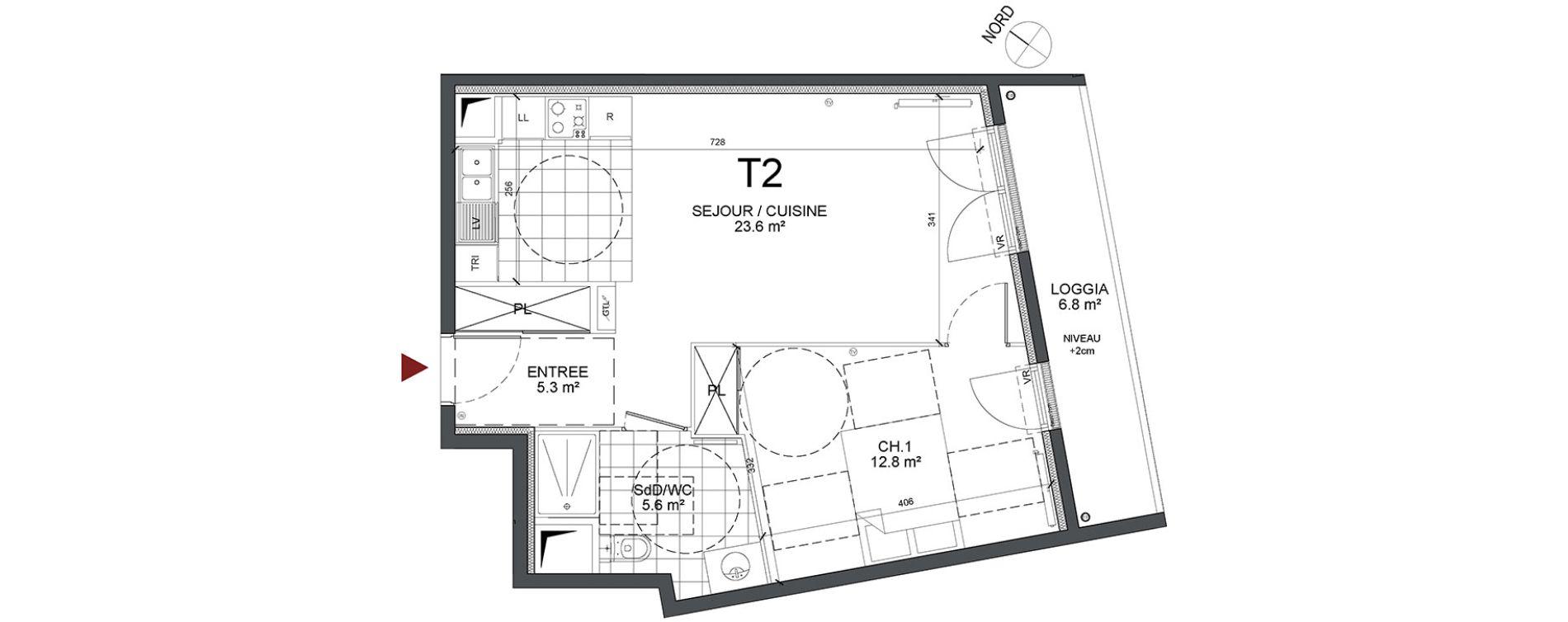 Appartement T2 de 47,30 m2 à Bonneuil-Sur-Marne Centre