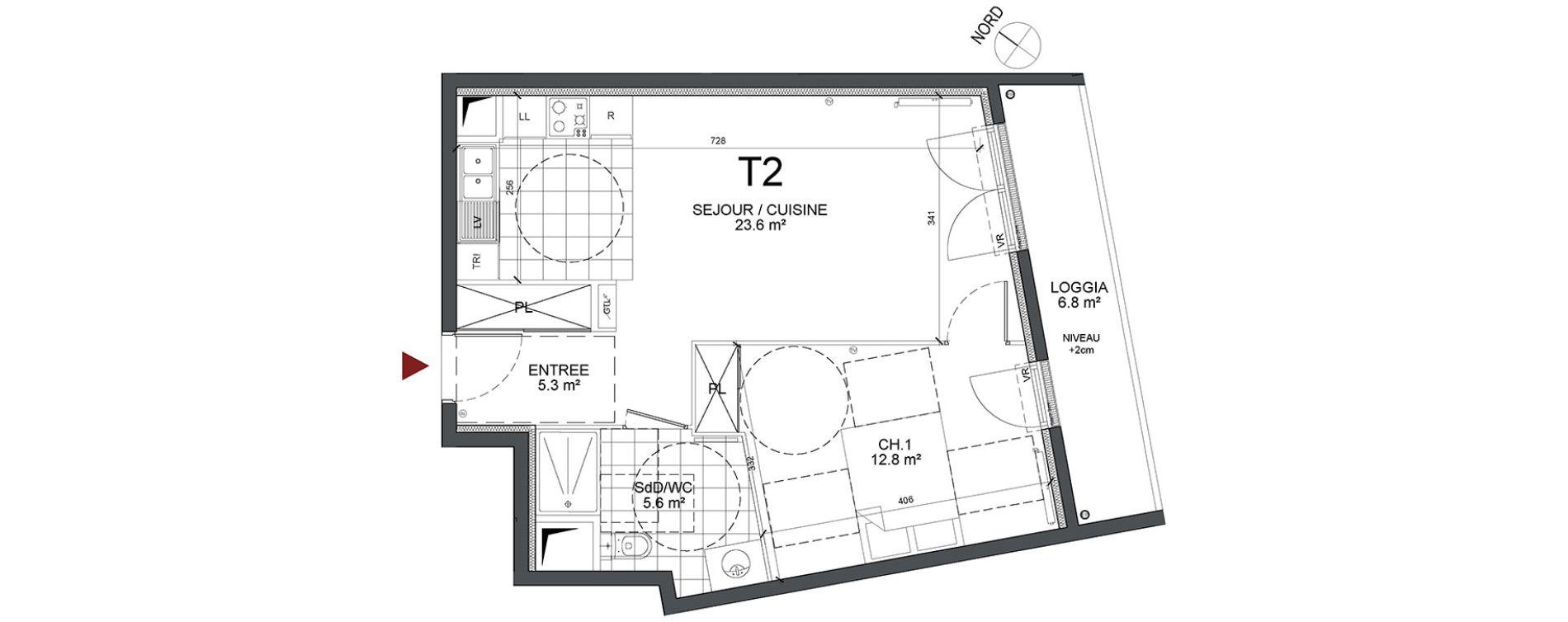 Appartement T2 de 47,80 m2 à Bonneuil-Sur-Marne Centre