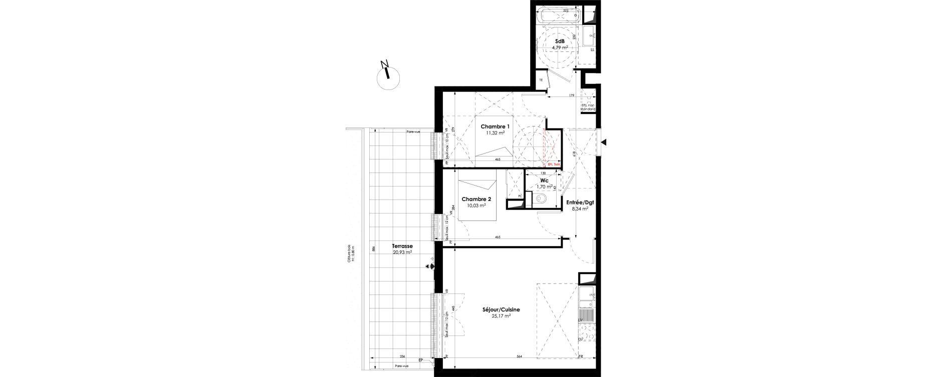 Appartement T3 de 61,35 m2 à Champigny-Sur-Marne Champigny sur marne centre ville