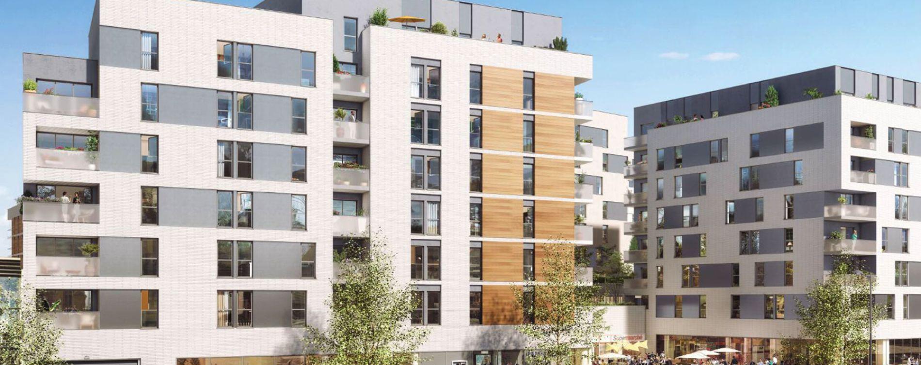 Champigny-sur-Marne : programme immobilier neuve « Ilot Jaurès - Coeur Champigny » en Loi Pinel