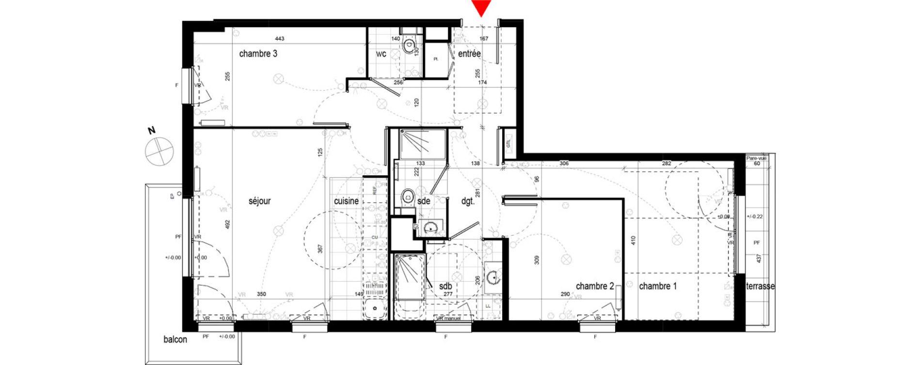 Appartement T4 de 81,04 m2 à Champigny-Sur-Marne Champigny sur marne centre ville