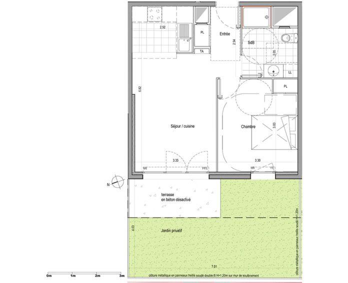Plan T2 neuf à Champigny-sur-Marne de