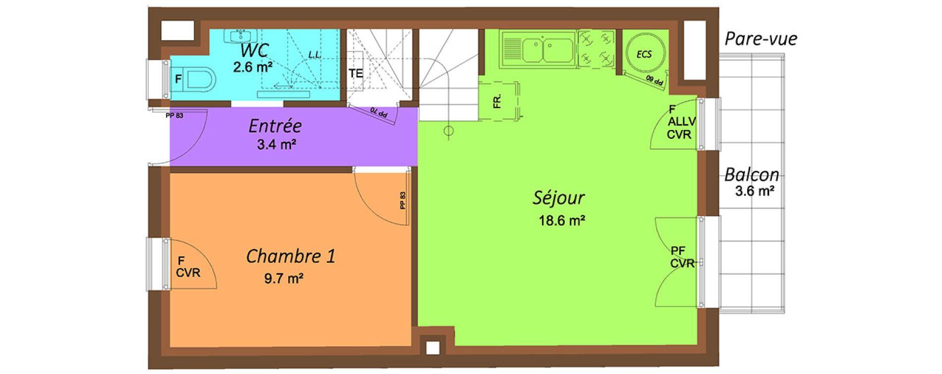 Duplex T4 de 67,70 m2 à Fontenay-Sous-Bois Centre