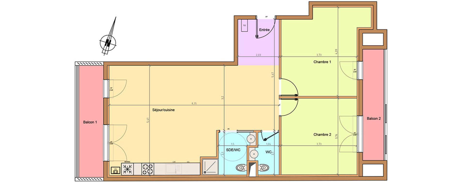 Plan T3 neuf à Fontenay-sous-Bois de