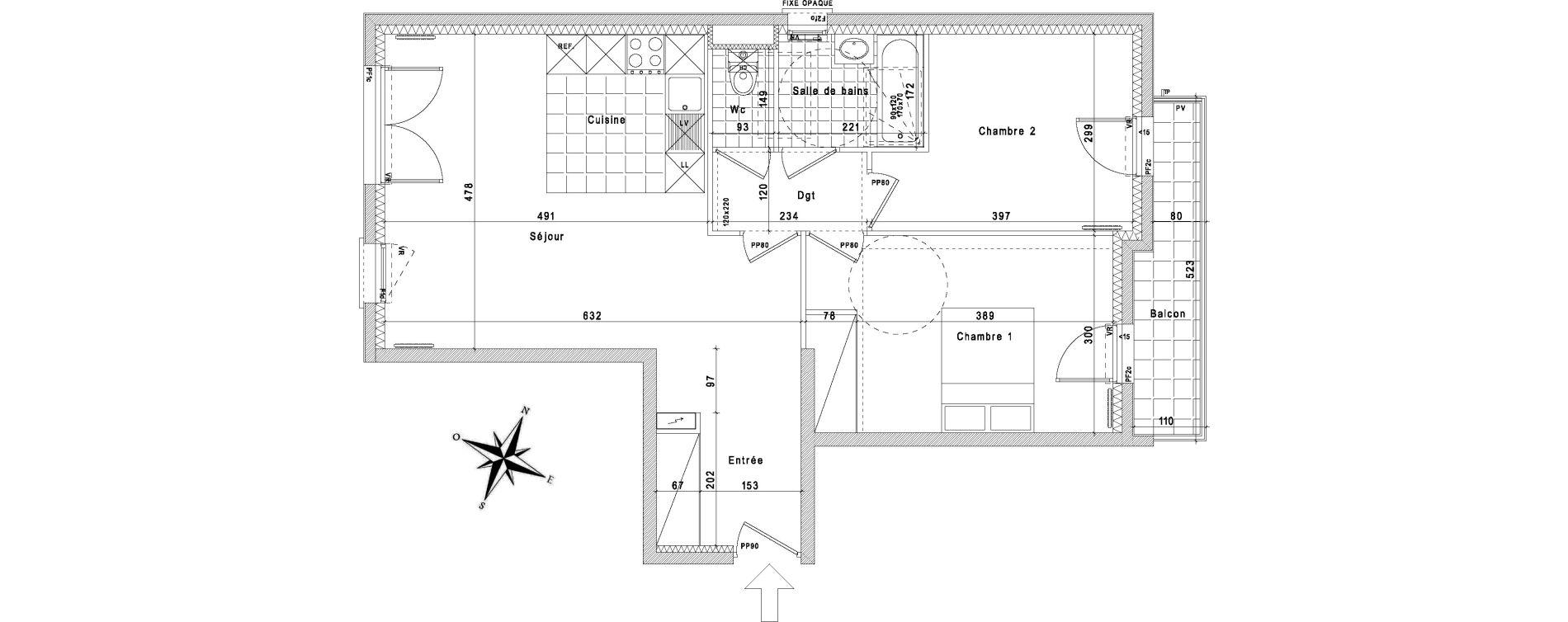 Appartement T3 de 64,67 m2 à La Queue-En-Brie Centre
