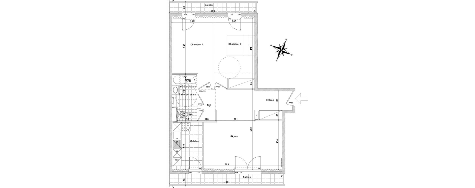 Appartement T3 de 68,13 m2 à La Queue-En-Brie Centre