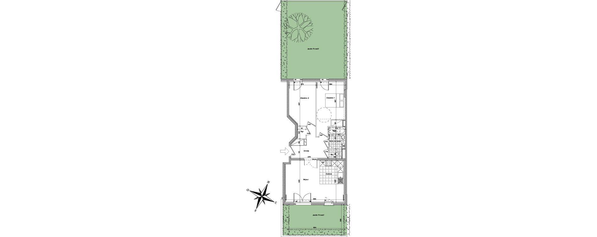 Appartement T3 de 65,22 m2 à La Queue-En-Brie Centre