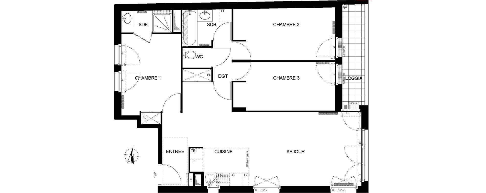 Appartement T4 de 78,11 m2 à Ormesson-Sur-Marne Centre