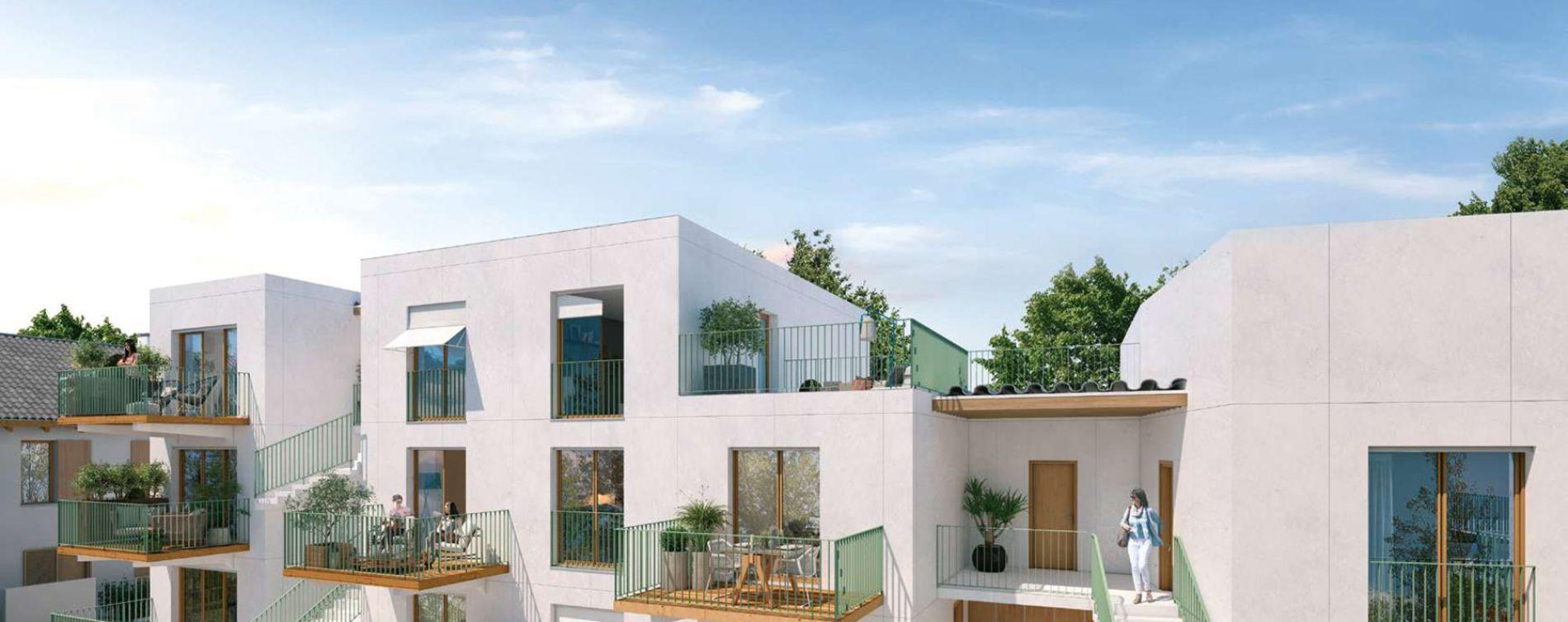 Rungis : programme immobilier neuve « Les Nouveaux Jardins - Maisons et Appartements » en Loi Pinel