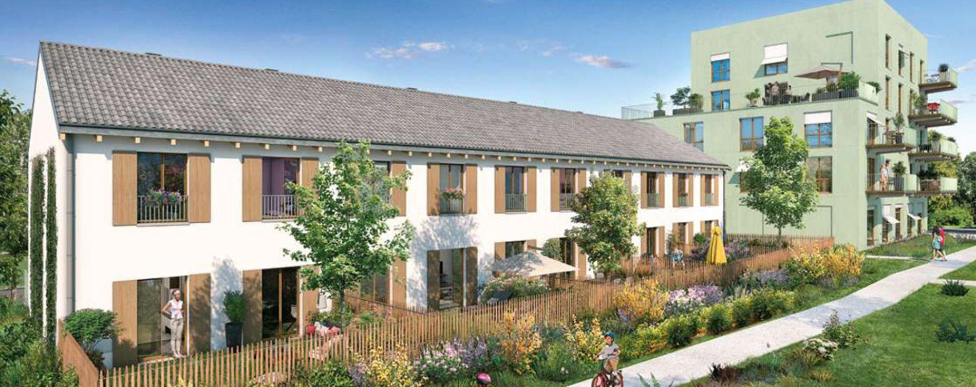 Rungis : programme immobilier neuve « Les Nouveaux Jardins - Maisons et Appartements » en Loi Pinel (3)