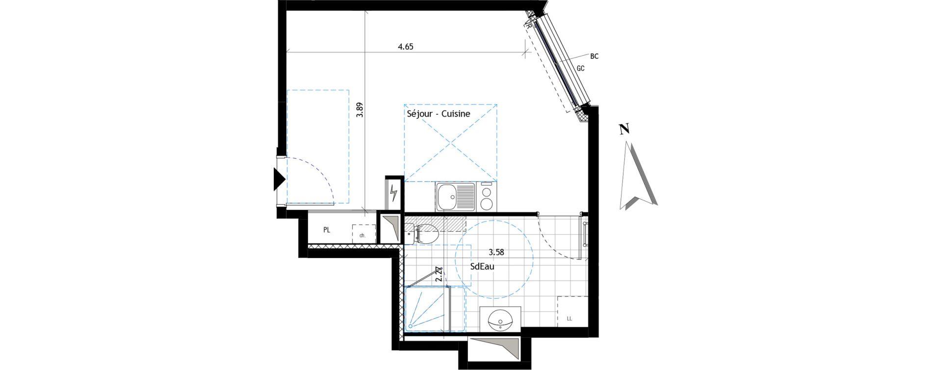 Appartement T1 de 29,96 m2 à Saint-Maur-Des-Fossés La pie
