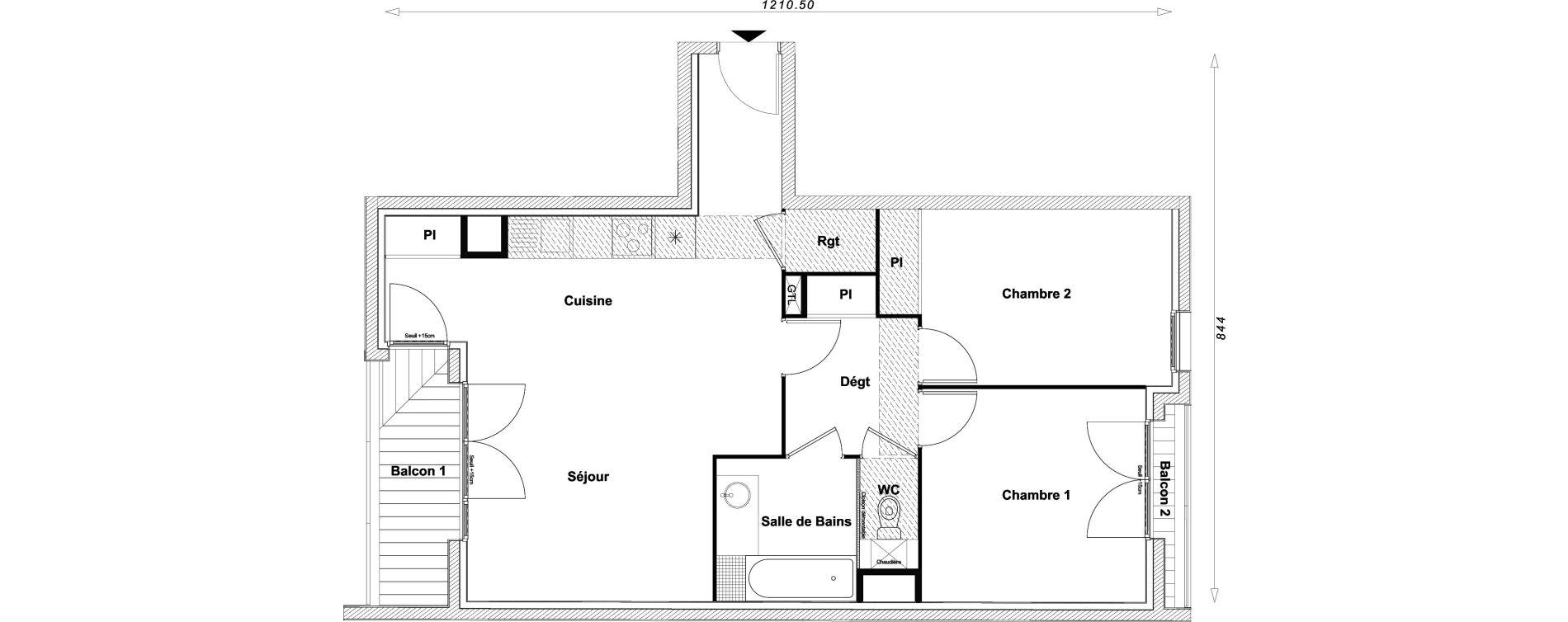 Appartement T3 de 67,09 m2 à Sucy-En-Brie Centre