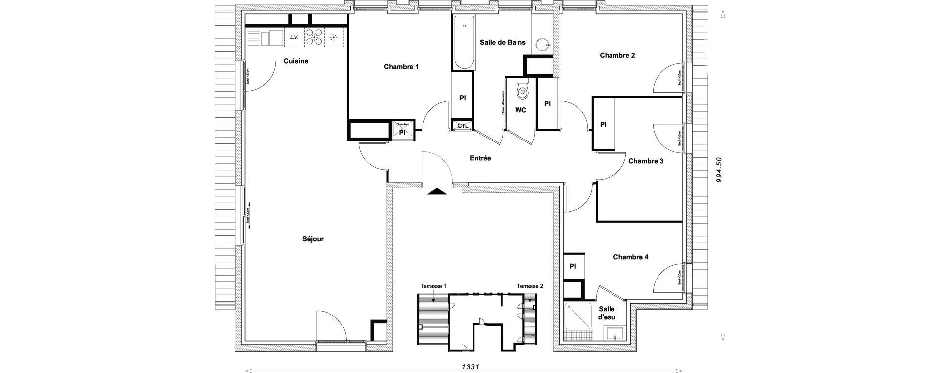Appartement T5 de 99,40 m2 à Sucy-En-Brie Centre