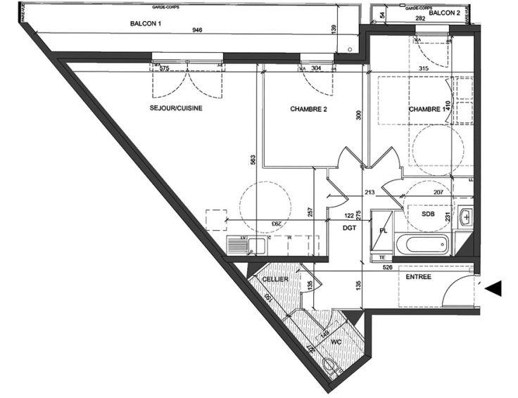 appartement t3 coeur villiers villiers sur. Black Bedroom Furniture Sets. Home Design Ideas