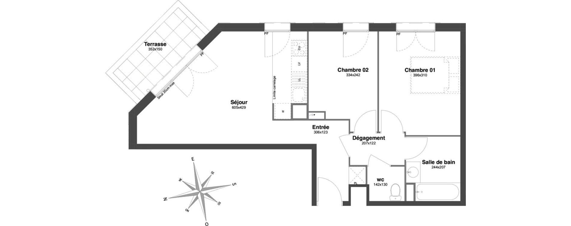 Appartement T3 de 57,20 m2 à Villiers-Sur-Marne Centre