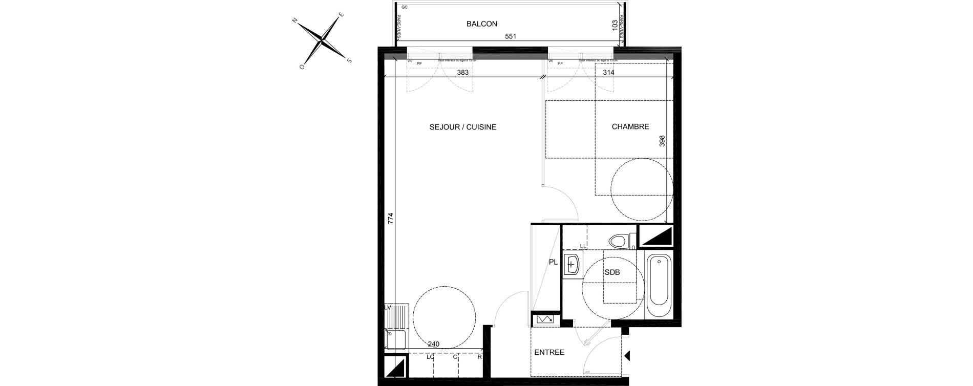 Plan T2 neuf à Villiers-sur-Marne de