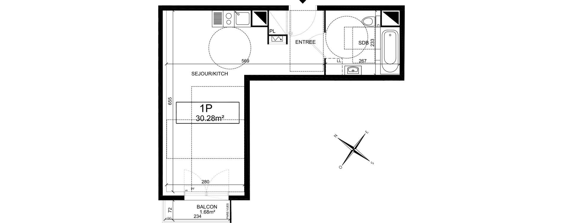 Plan Studio neuf à Villiers-sur-Marne de