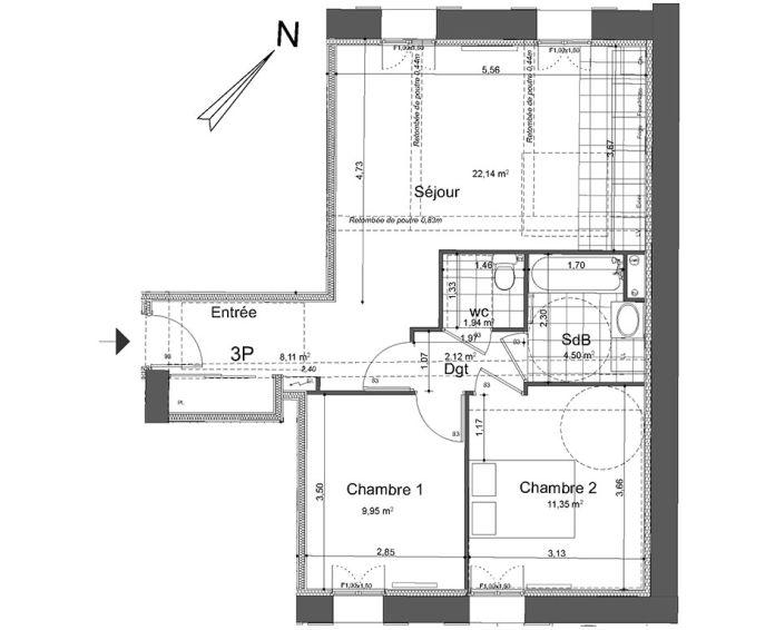 Plan T3 neuf à Beaumont-sur-Oise de