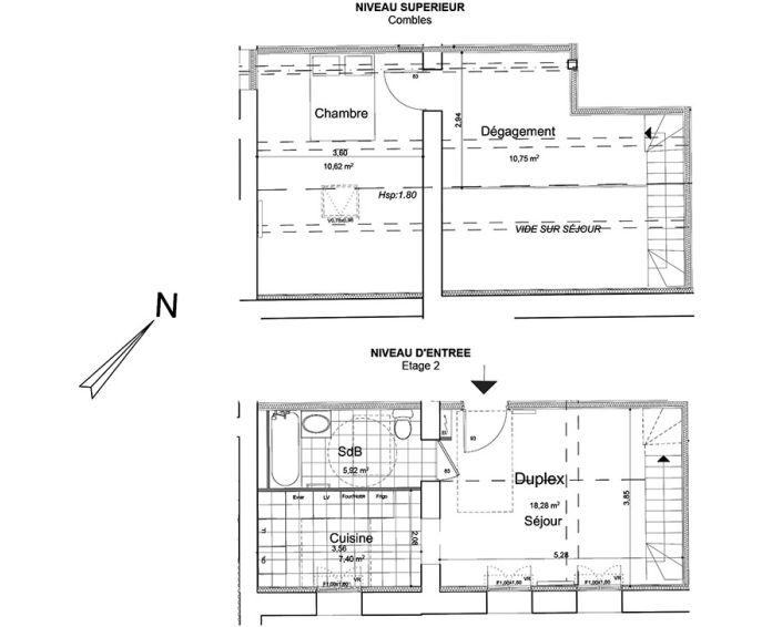 Plan T2 neuf à Beaumont-sur-Oise de