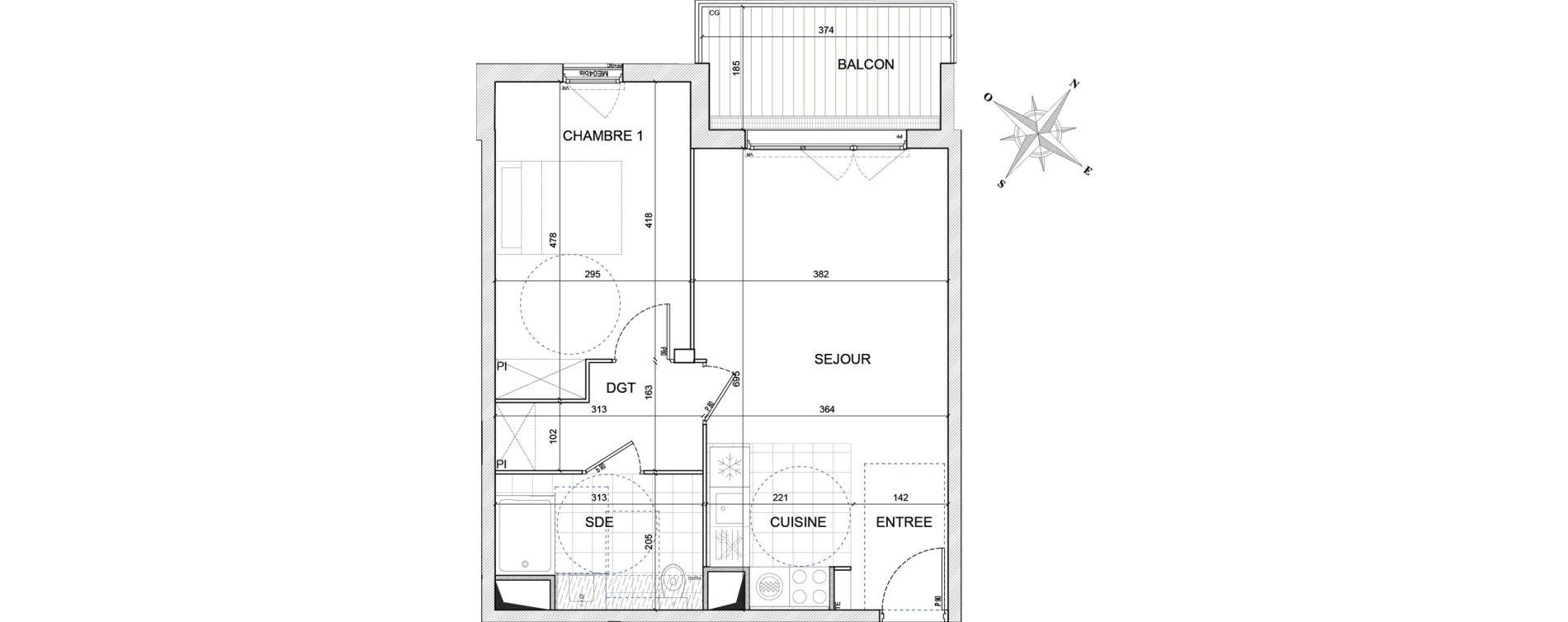 Appartement T2 de 48,60 m2 à Bezons Centre