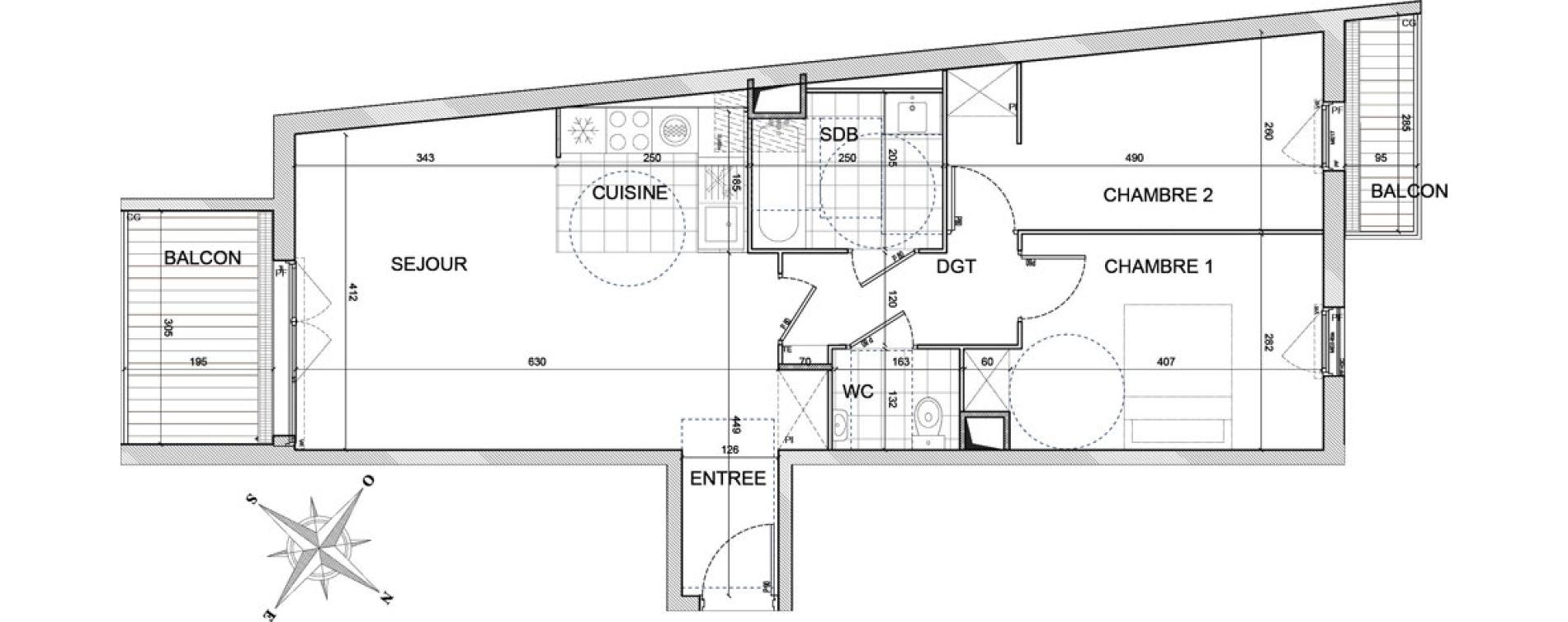 Appartement T3 de 64,60 m2 à Bezons Centre