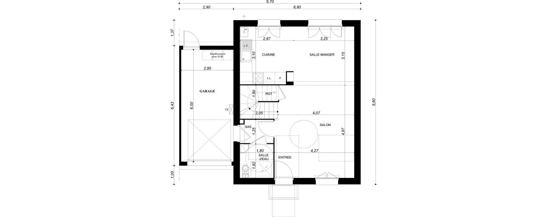 Maison T4 de 90,77 m2 à Bruyères-Sur-Oise Centre