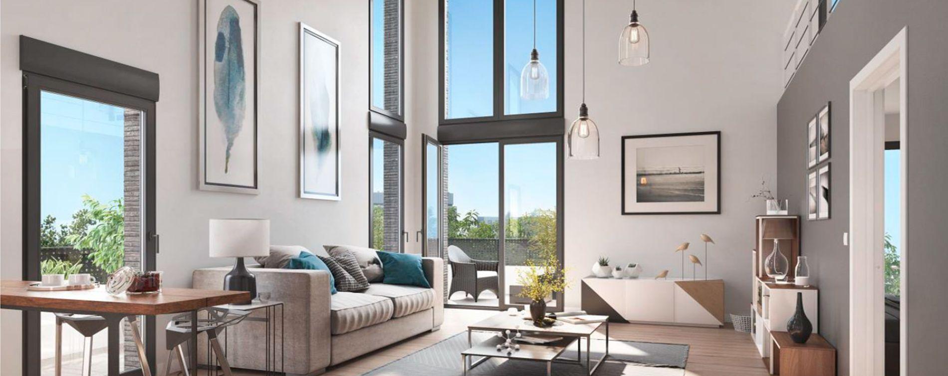 Cergy : programme immobilier neuve « Ville Nature » en Loi Pinel (5)