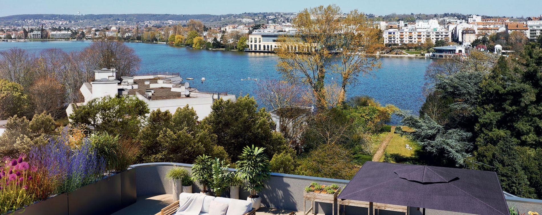 Enghien-les-Bains programme immobilier neuve « Lac en Scène » en Loi Pinel  (2)