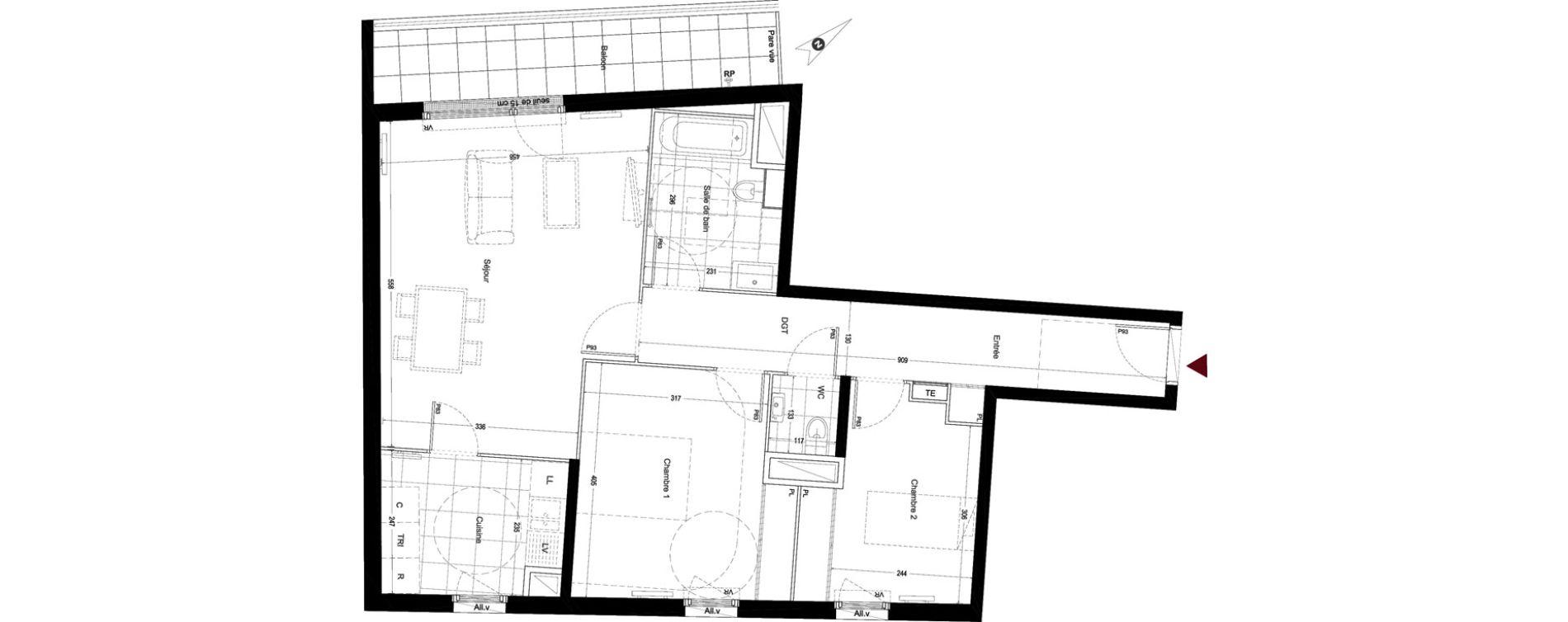 Appartement T3 de 74,99 m2 à Enghien-Les-Bains Centre